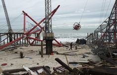 Hurricane Sandy took Funtown Pier in Seaside Park also.
