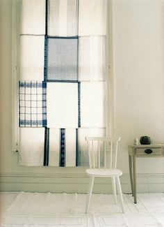 Old linens turned into new curtains!