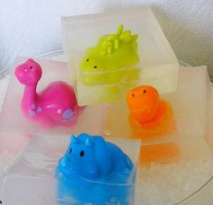 Dinosaur soap glycerin bath soap kids party favors or gift soaps, try one  Free Shipping. $8.99, via Etsy.