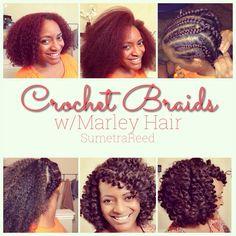 Crochet Braids w/ Marley Hair Pictorial - Sumetra Reed