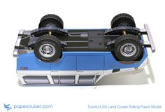 Toyota FJ55 Land Cruiser rolling paper model | www.papercruiser.com