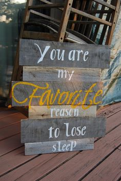 Hand Painted Pallet Sign You are my Favorite by thecourtyard
