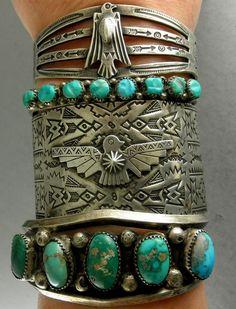 turquoise braceletes