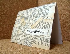 Book Page Crafts - Create Handmade Cards, Altered Art, using book pages