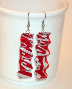 Recycled Coca Cola Accordian Earrings