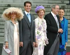 About Royalty: Greek Royals at Crown Prince Felipe of Spain's wedding (nephew of King Constantine):  Princess (Marie-Chantal) and Prince Pavlos, Queen Anne Marie, King Constantine, Princess Irene, 2004