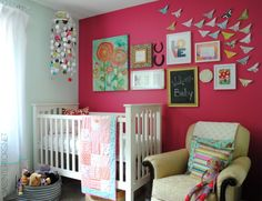 Nursery Nook: Gallery Wall - New creative wall with a combination of pictures, artwork, quotes, and special keepsakes.  Come see the evoluti...