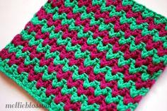 Free Crochet Dishcloth Pattern - ZigZag » mellie blossom