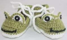 Baby Booties - Baby Slippers -Crocheted.