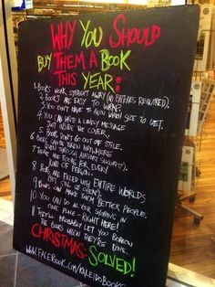 Get everyone you know a book for Christmas (again). | 13 Clever Signs That Will Make You Want To Buy A Book