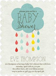 Drip Drop Shower - Baby Shower Invitations - Ann Kelle - Reef - Blue : Front