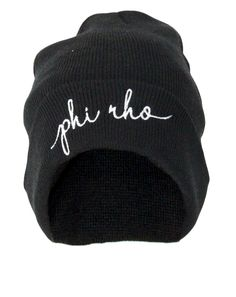 Phi Rho Embroidered Beanie Adam Block Design