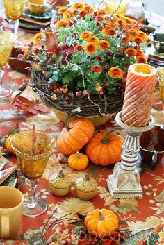 Welcome Fall Tablescape.