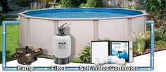Interested in a salt water pool? Here is what you need to know.http://spapoolbilliards.com/salt-water-pools #backyard #pool #swimming