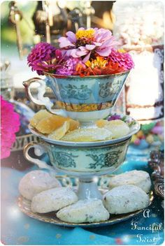 Mad tea party table centerpiece