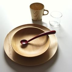 Plate, bowl and mini Kami mug by TakahashiHidetoshi