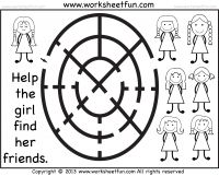 Printable Mazes - FREE printable worksheets printabl worksheet, kindergarten worksheets