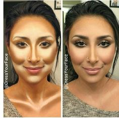 Contouring...this looks strange before it is covered.