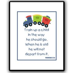 Train up a child in the way he should go, when he is old he will not depart from it. ㋡