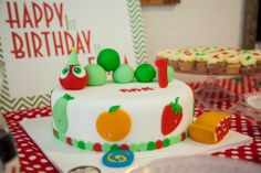 Very Hungry Caterpillar cake!