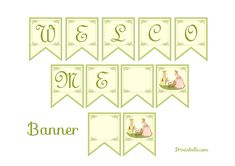Free vintage baby shower printable welcome banner #babyshower #free #printable #banner