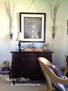 Traditional Office mixed with Industrial elements and repurposed furniture - by SnazzyLittleThings.com