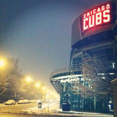 The winter before Wrigley Field's 100th season...(Chicago Pin of the Day, 2/21/2014).