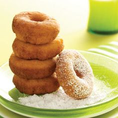 Sunny Morning Doughnuts Recipe from Taste of Home -- shared by Sherry Flaquel of Cutler Bay, Florida