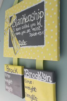 Hospital Door Hanger for TWINS. Birth by gloriartbybrooke on Etsy