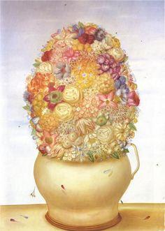 Flower Pot - Fernando Botero