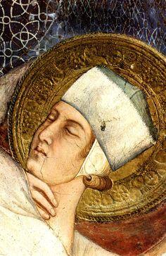❤ - SIMONE MARTINI (1285 -1344) - The Dream of Saint Martin,detail - 1312/17. Fresco, 265 x 200 cm. Cappella di San Martino, Lower Church, San Francesco, Assisi.