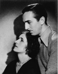 Lillian Disney and Walt Disney