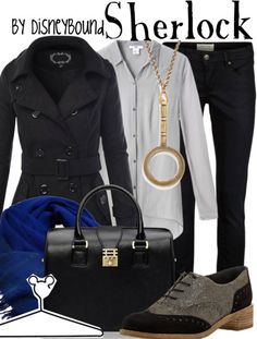 """Click through for [currently] 3 tags """"Sherlock Holmes"""" on the DisneyBound fashion blog. Includes outfits inspired by Sherlock and Madam Simza Heron. -- """"DisneyBound is aware this is not Disney."""""""