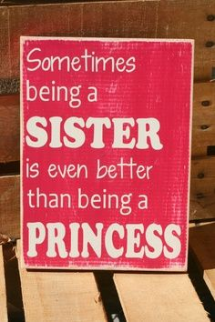 Sisters quote inspirational hand painted wood sign by caitcreate, $25.00…so getting this & Carter's sign that says the same but brother and super hero! | best stuff