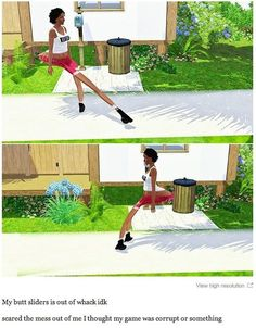 This booty. | 29 Times The Sims Went Horribly, Hilariously Wrong