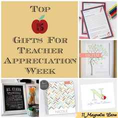 Top gift ideas for Teacher Appreciation--and you can win them all! (Click for giveaway).