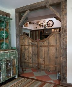 Saloon doors. - would be so fun to have in a house!