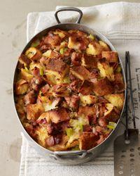 Ham and Sausage Strata