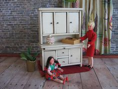Vintage Wisconsin Toy Co. Kitchen Cabinet   Doll by TheToyBox, $45.00