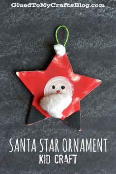 Santa Star Ornament {Kid Craft}