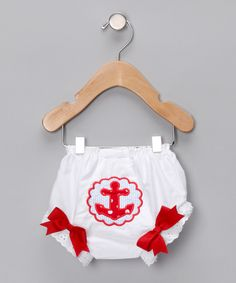 Waistin' Away Red Anchor Diaper Cover - Infant - Zulily