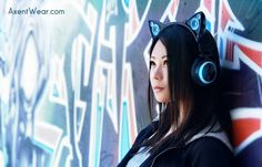 Axent Wear seeks to introduce statement headphones for your music. Share your sound with cat ear external speakers, and stand out in a crowd with vibrant LED lighting. cat ear, extern speaker