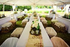 Hay bale seats