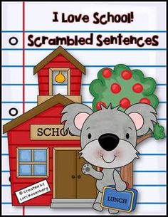 Students need lots of practice writing proper sentences. Just print, laminate, and cut out the sentence cards. Have the children sort the cards, put them in order to make sentences, and write them neatly in their booklet. Another option is to have them write the sentences on lined paper, which is included.