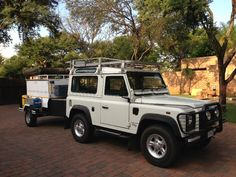 Land Rover Defender 90series with 4x4 Camping Trailer
