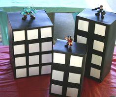 Super Hero / City Scape Valentine Box for boys