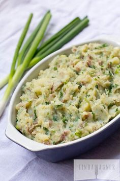 Healthy Garlic & Herb Smashed Potatoes via Linda Wagner