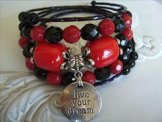 memory wire bracelet wraps around 5 times inspirations verse bracelets | Created Designs by Rina | madeit.com.au