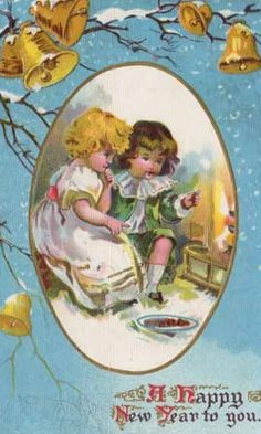 A happy New Year to you! #vintage #New_Years #card