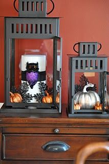 Halloween filled decor lanterns (HoH68)